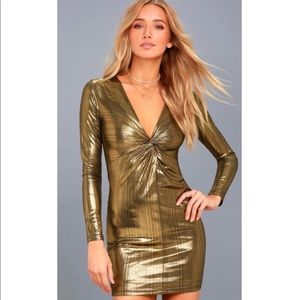 ✨NWT LULUS GOLD KNOT DRESS✨